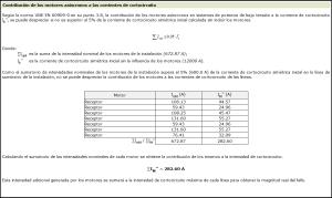 CYPELEC REBT. Cálculo de la contribución de los motores asíncronos a las correientes de cortocircuito