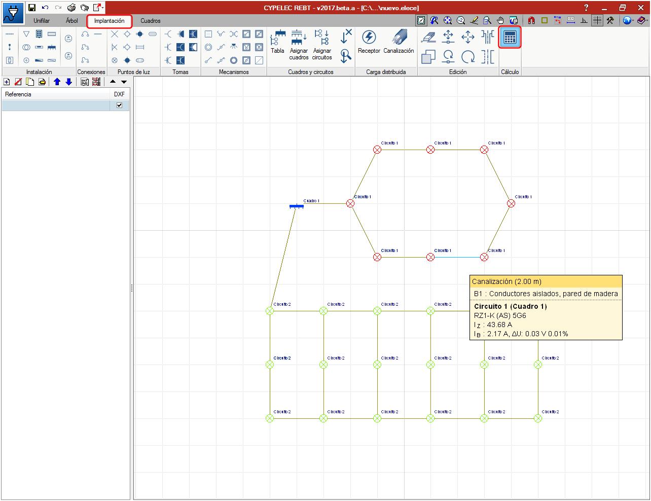 C lculo de redes malladas for Calculadora de redes